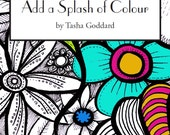 Add a Splash of Colour: Grown-up Colouring Book
