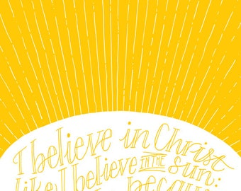 CS Lewis - I Believe in Christ Like I Believe in the Sun