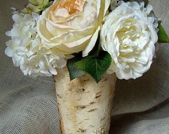 Blush Wedding Flowers,  Rustic Wedding Flower Arrangement, Altar Piece, Ceremony Flowers, Wedding Ceremony, Tall Arrangement, Centerpiece,
