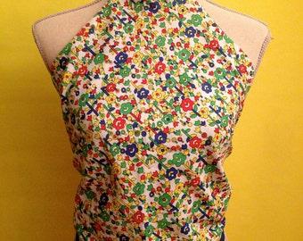 Vintage Floral Halter Top