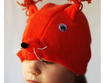 Squirrel costume hat sewing pattern and tutorial instant download, forest animal costume hat, toddler costume, kids costume, halloween hat