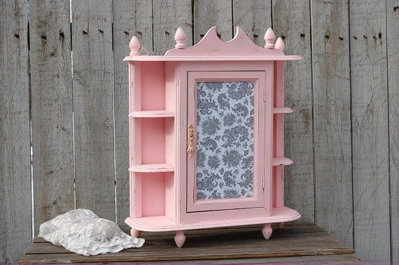 Wall Cabinet Shabby Chic Kitchen Curio Spice By