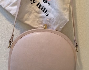 Vintage 80's Champagne/Blush Half Moon Shoulder Bag by Giorgio of Beverly Hills