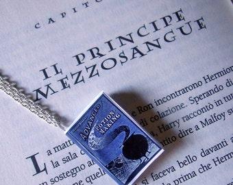 Collana miniatura libro di pozioni Harry Potter e il principe mezzosangue - Harry Potter and the half-blood prince potion book necklace