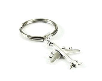 SALE Airplane Key Chain, Plane Key Chain, Keychain, Keyring