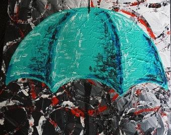Rainy Day - Teal