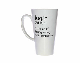 Logic mug - dictionary definition fail funny white ceramic coffee or tea mug - Tall 17 ounce Cup
