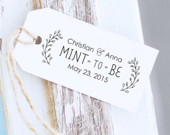 Mint To Be Stamp, Mint Wedding Favors,  Wedding Favors, Mint Wedding, Custom Wedding Stamp, Wedding Mints- 10165