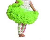 Baby Girl's full ruffle PREMIUM lime green pettiskirt tutu skirt dress petticoat twins photo prop Newborn size 12-24-36 months