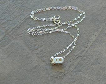 XO Necklace - Hugs and Kisses Silver Necklace - Hugs and Kisses Gold Necklace - Slider Necklace