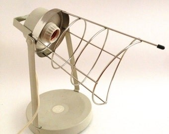 Mid Century Industrial Wall Lamp Wire Cage Sunlamp Floodlight Swivel Work Light