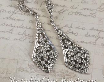 SALE - Vintage Inspired Filigree Statement Earrings