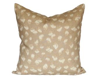 READY TO SHIP - 18x18 2-sided Kelly Wearstler Feline Beige/Ivory - Designer Pillow Cover