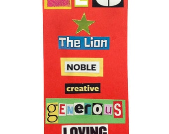 LEO | Notebook | RED | Zodiac Book | Notepad | August Birthday | Star Sign | Gift Idea | Handmade |  For Him | For Her |