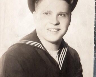 Hey Sailor Boy! Vintage 5 x 7 Photo original black and white photography