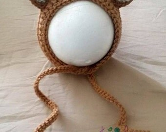 Newborn Crochet Deer Bonnet