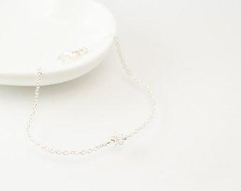 Star charm bracelet, silver star bracelet, silver bracelet, charm bracelet, silver chain bracelet, cute bracelet, friendship bracelet,