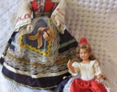 Two lovely vintage international travel dolls/ great detail