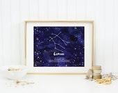 Gemini Wall Art, Printable Art, Instant Download, Zodiac Constellation, Zodiac Wall Art, Printable Home Decor, Astrology Art, Gifts for her