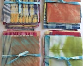 Shibori Fabric Scraps, Hand Dyed Fabric, Gift For Quilter