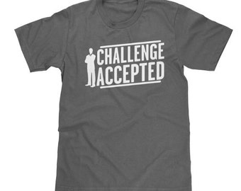 Barney Stinson Challenge Accepted T shirt How I met your Mother Funny