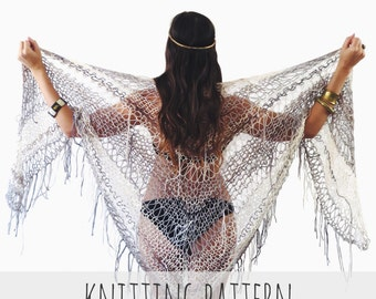 Knitting Last Stitch Too Loose : PATTERN for Loose Knit Top Drop Stitch Lace Net by TwoOfWandsShop