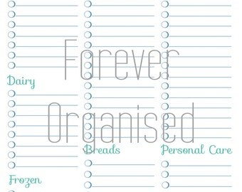 Shopping List Printable - INSTANT DOWNLOAD