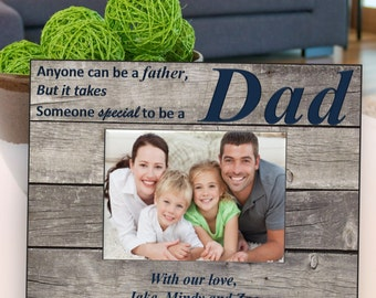 Personalized Father's Day Frame - Barnwood Daddy Frame - It takes someone Special to be a Dad - Father's Day Gifts - GC1273 BARNWOOD/NAVY