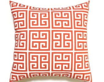 Outdoor Orange Pillow Covers, 18x18 Decorative Pillows, Summer Pillow Covers, Beach Lake House Decor,Accent Toss Pillow Towers Orange