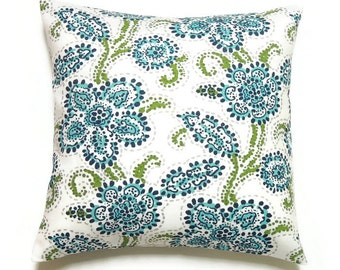 Outdoor Pillow Covers, Outdoor Decorative Pillows, Coastal Lake Beach House Pillow,  20x20 Pillow, Outdoor Cushion Cover, Riley Oxford