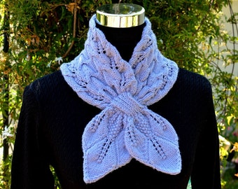 Knitting Pattern Only - Leaves and Cables Scarf