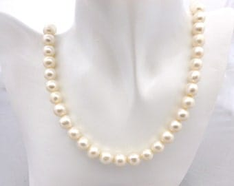 Wedding Necklace White Pearl Jewelry AAAA Pearl Necklace White Pearl Necklace Bridal Bridesmaids Gift Classic Gift4Her Birthday Gift, 1920s