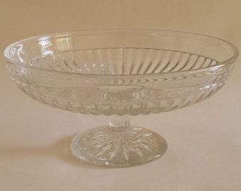 English Vintage glass cakestand 30's