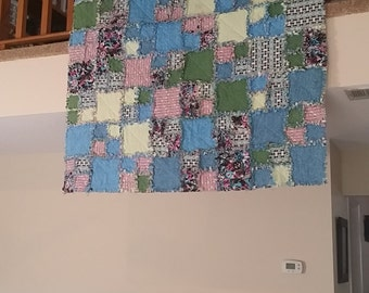 Full Size Rag Quilt, Cats and Dogs