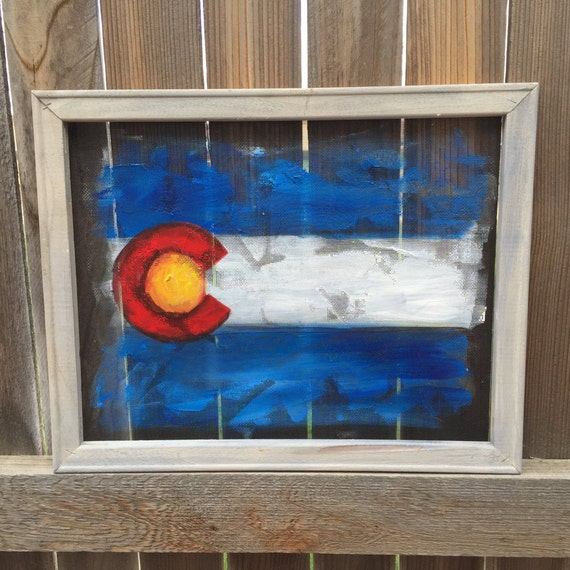 Recycled frame vintage colorado fine art by rebecaflottarts for Recycled window frames