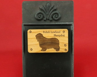 Original Design Polish Lowland Sheepdog Magnet