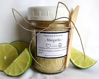 Organic Body Scrub Organic Face Scrub Organic Sugar Scrub Margarita Scrub