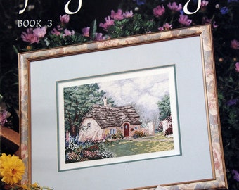 Spring At Stonegate Book 3 By Thomas Kinkade Vintage Cross Stitch Pattern Leaflet 1992