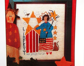 Liberty & Justice By Diane Arthurs And Imaginating, Inc. Cross Stitch Pattern Leaflet 2000
