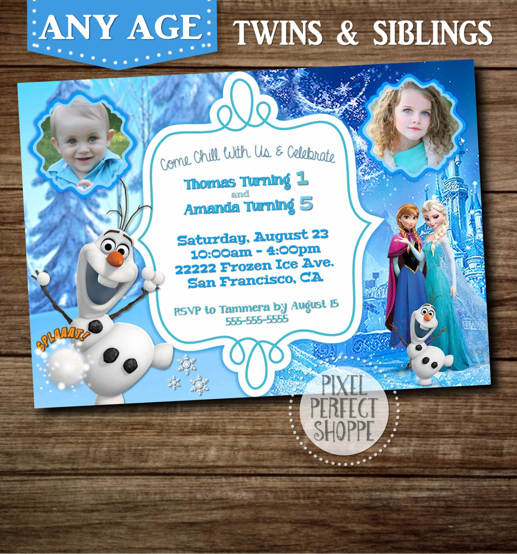 Old Fashioned Birthday Invitation For Twins Inspiration - Invitation ...