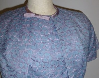 1950/60 HOVLAND SWANSON Vintage Lilac Lace Dress with Jacket