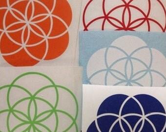 1- Seed of Life Sacred Geometry Vinyl Sticker- Indoor/ Outdoor