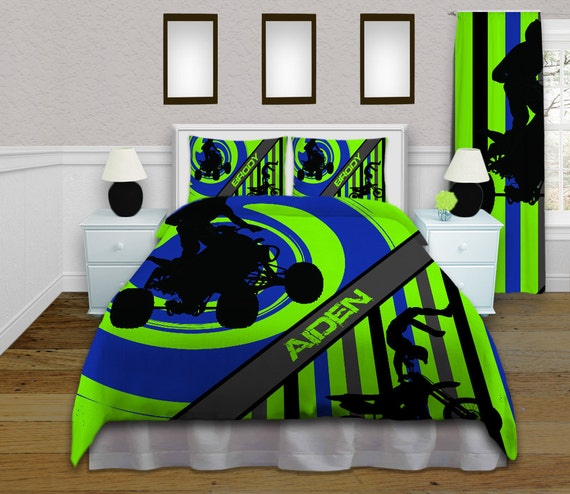 Atv Green And Blue Comforter Sets By Eloquentinnovations
