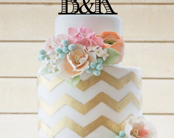 Wedding Cake Topper Personalized Initials