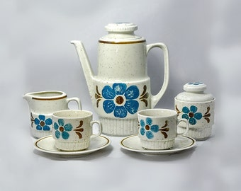 Bareuther Waldsassen Mid Century Modern Pottery Coffee Pot Set Bavaria Germany 1950-1960's