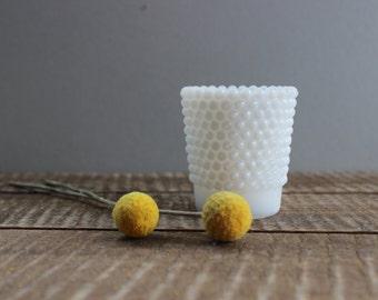 Vintage Milk Glass Hobnail Votive Holder