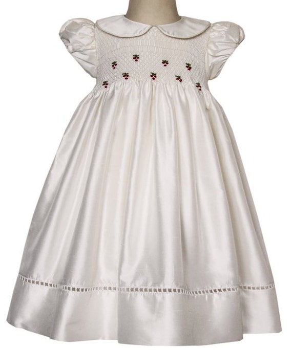 Baby Girls Silk Special Occasion Ivory Alexa Dress by ...