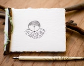 Notebook made from recycled handmade paper with Tree Roots design by Cliffwatcher