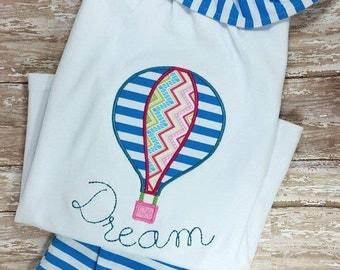 Hot Air Balloon Applique embroidery design - balloon appliqué design - hot air balloon applique design