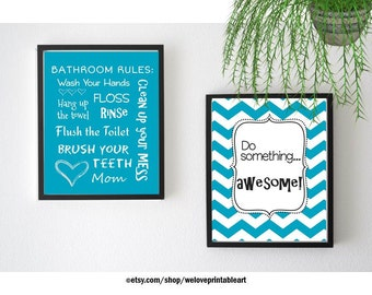 Kids Bathroom Art Kids Bathroom Wall Decor Quote Prints Kids Bathroom Wall Art